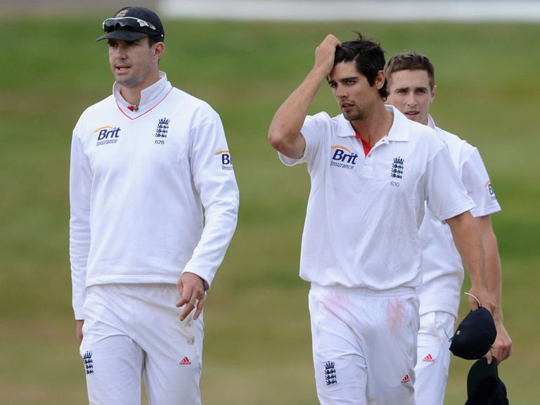 Alastair Cook (r): No comment about Kevin Pietersen