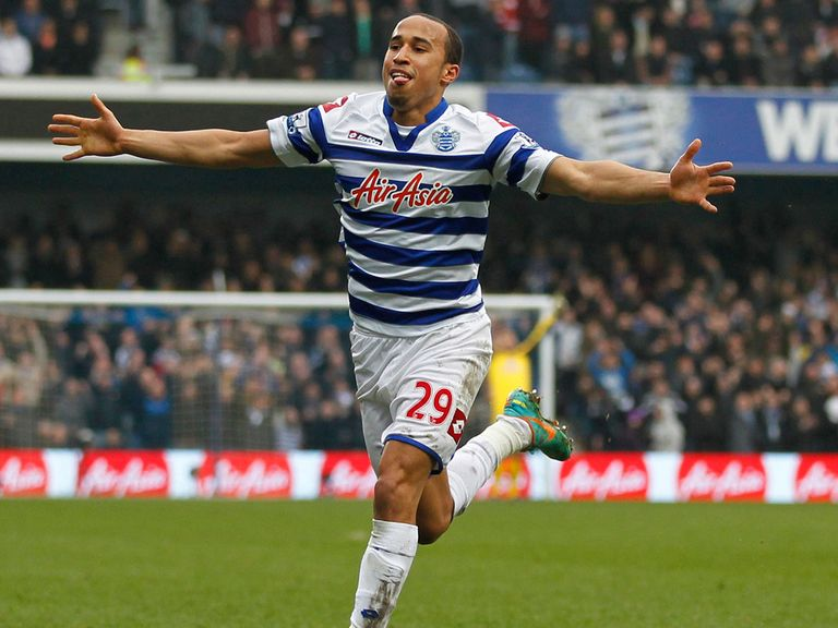 Andros Townsend celebrates his goal against Sunderland.