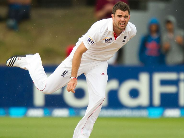James Anderson: Took the only wicket of the day