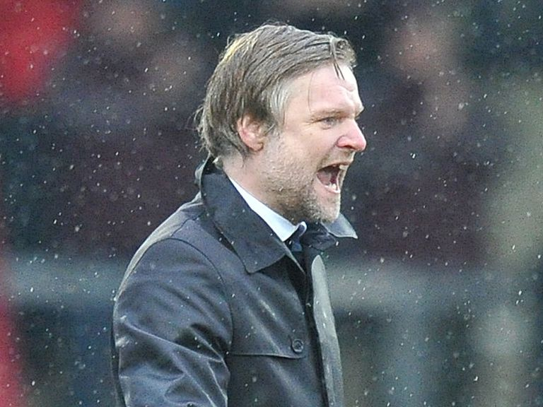 Steven Pressley roars with delight after Coventry's win