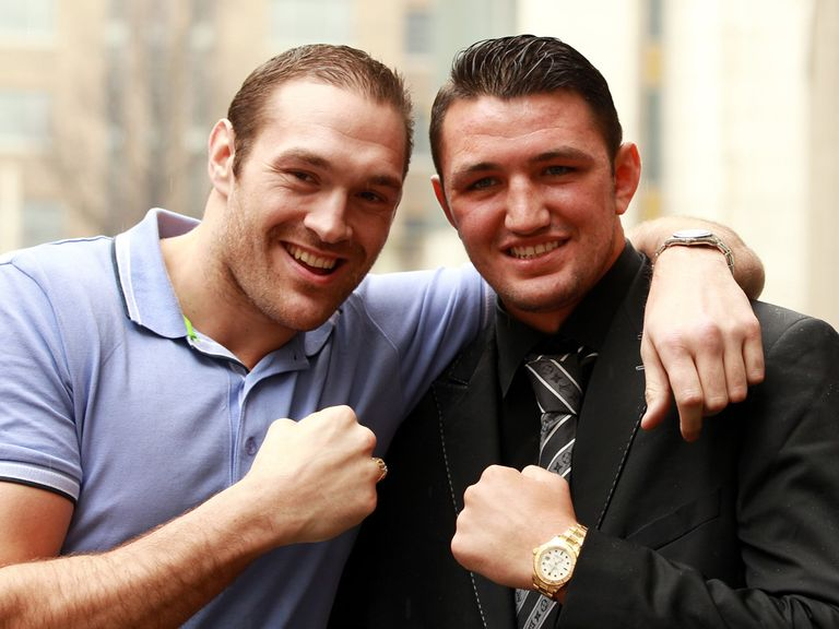 Keeping it in the family: Tyson (l) and Hughie Fury