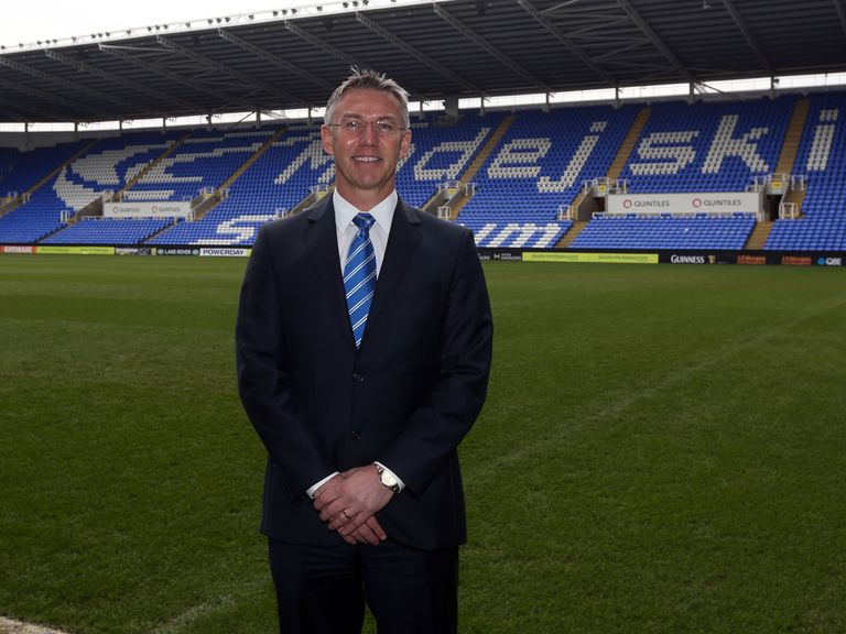 Nigel Adkins after his press conference at the Madejski Stadium