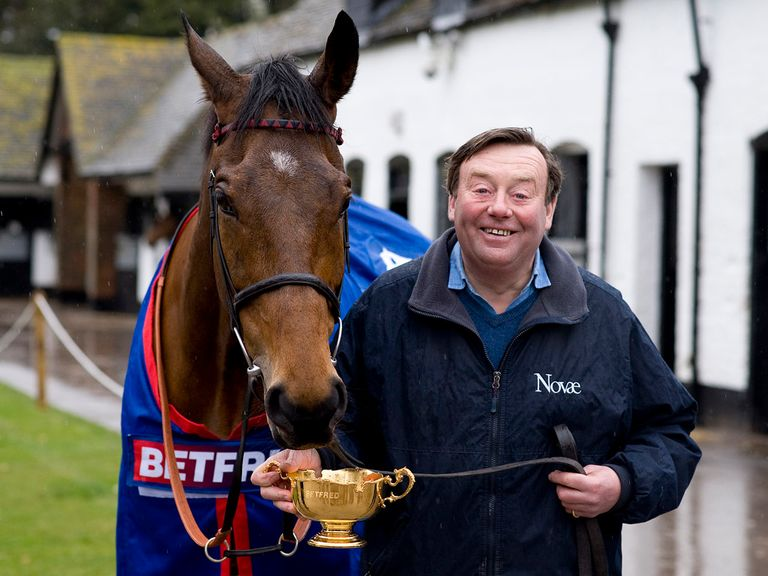 Bobs Worth: Pictured with trainer Nicky Henderson