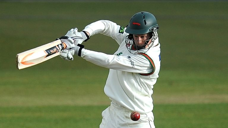 Matthew Boyce: Leicestershire batsman struck 55 in 125-run stand with Shiv Thakor