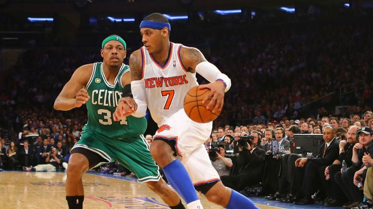Carmelo Anthony: Ended three-point drought in Knicks win