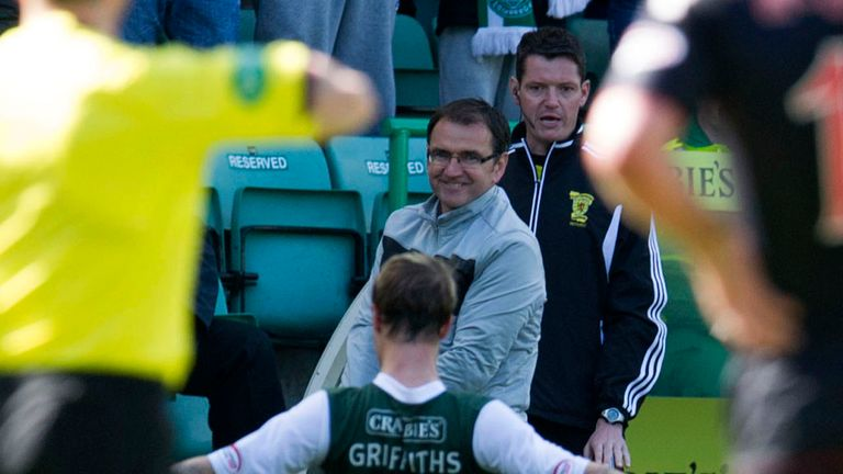 Pat Fenlon: Celebrations with his super striker Leigh Griffiths