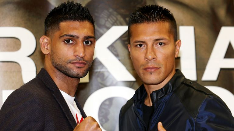 Amir Khan and Julio Diaz ahead of their contest on Saturday