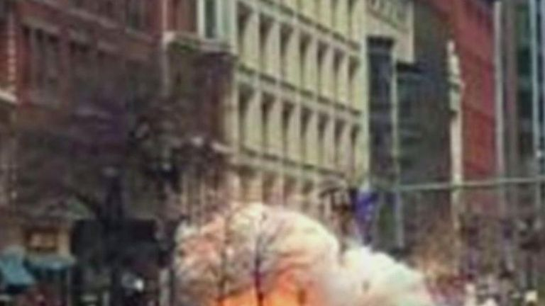 Two explosions happened near the finish line of the Boston Marathon