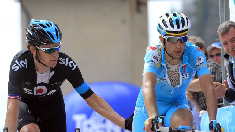 Sir Bradley Wiggins has identified Vincenzo Nibali as his main rival at the Giro d'Italia