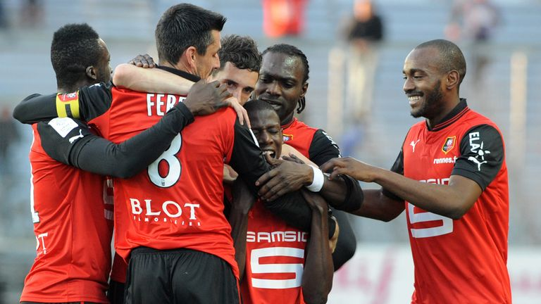 Abdoulaye Doucoure (centre): Hit the solitary goal for Rennes