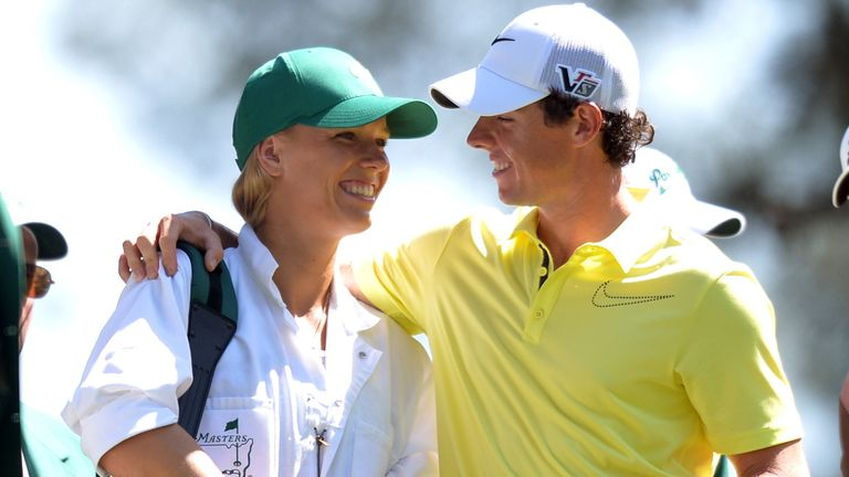 Tennis star Caroline Wozniacki with Rory McIlroy