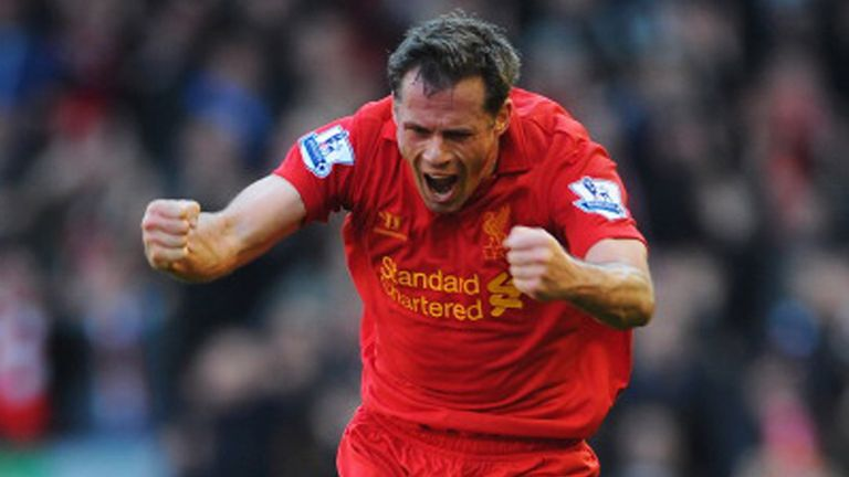 Jamie Carragher: Will join the likes of Ian Rush and Alan Hansen in having played in at least 30 Merseyside derbies