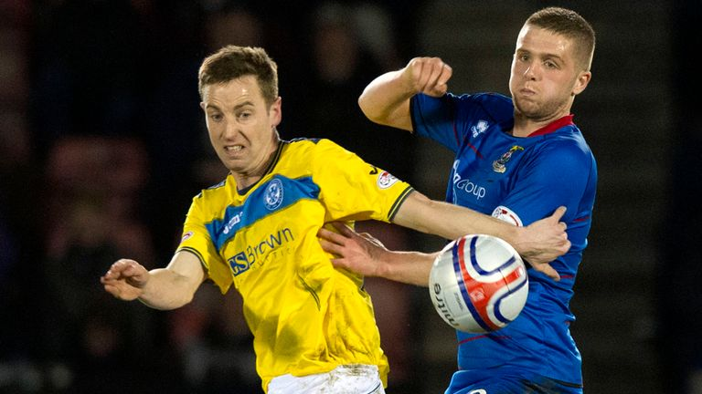 Danny Devine (r): Set for a starting role for Inverness against Dundee United