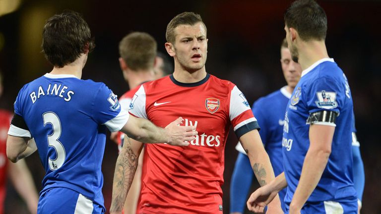 Jack Wilshere and Kevin Mirallas:  Were involved in a half-time altercation.