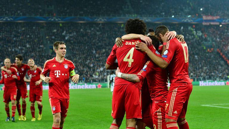 Bayern Munich: Celebrate their opening goal in Turin