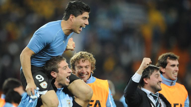 Luis Suarez: Scored the only goal for Uruguay to defeat France