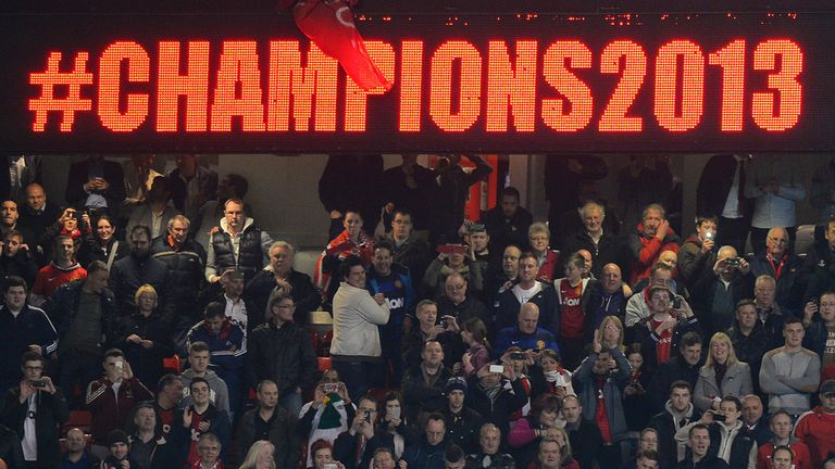 Manchester United fans: Celebrate the club's Premier League title at Old Trafford in April