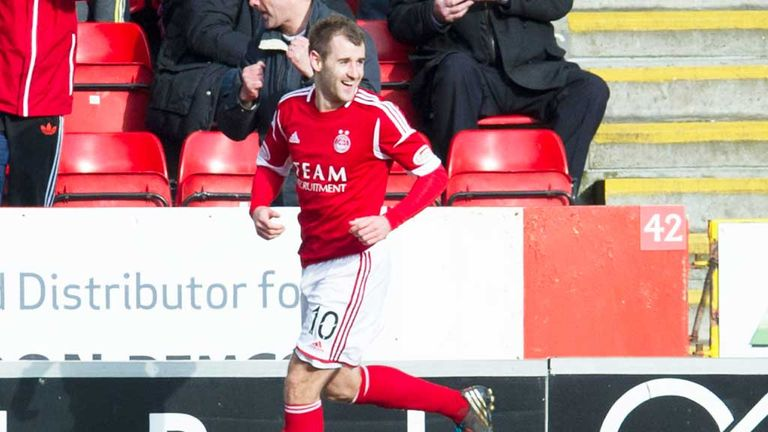 Niall McGinn: Scored the only goal of the game as Aberdeen beat Kilmarnock