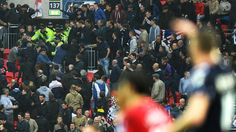 FA Cup semi-final: Marred by violence in the Millwall end