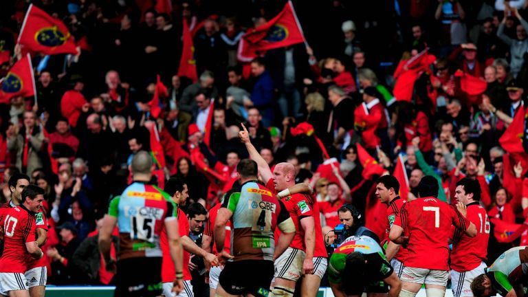 Munster fans: much in evidence at the Stoop showdown