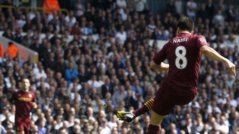 Samir Nasri fires Manchester City ahead at Tottenham