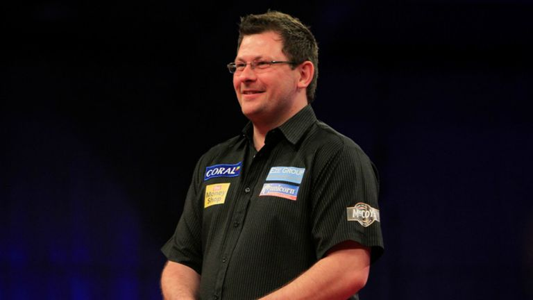James Wade: chance to cement hold on second place in the table against Raymond van Barneveld