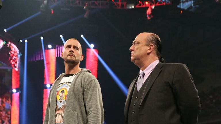 Punk and Heyman: the pair's bond still appears strong
