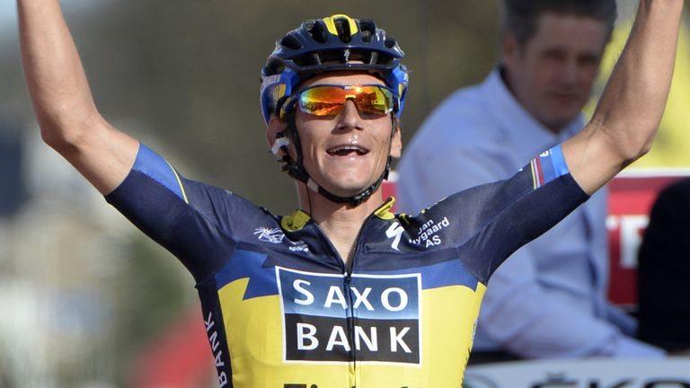 Roman Kreuziger triumphed after an attack 7km from home