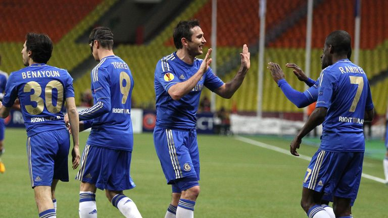 Chelsea celebrate Europa League progress at Rubin Kazan