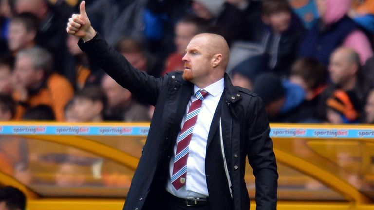 Sean Dyche: Happy with his in-from striker