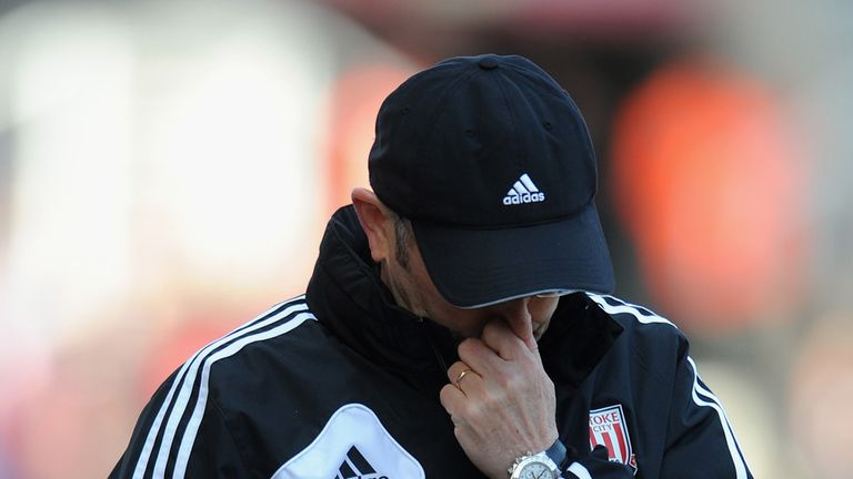 Tony Pulis: Is aware of the pressure his Stoke City side are under.