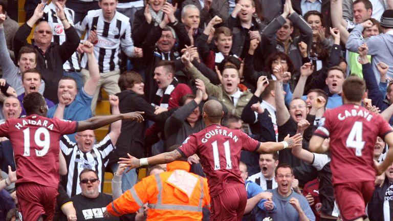 Yoan Gouffran: Celebrates his goal against West Brom