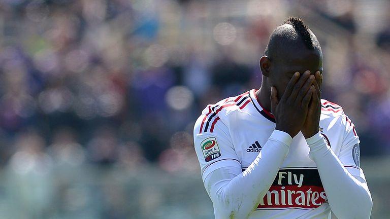 Mario Balotelli: AC Milan striker will now serve two-game ban