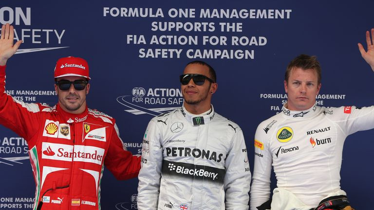 The Chinese GP qualifying top three