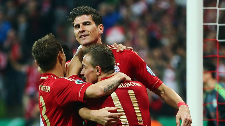Gomez: main attacking threat for Bayern