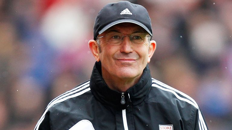 Pulis: the Welshman has left Stoke after seven years in charge