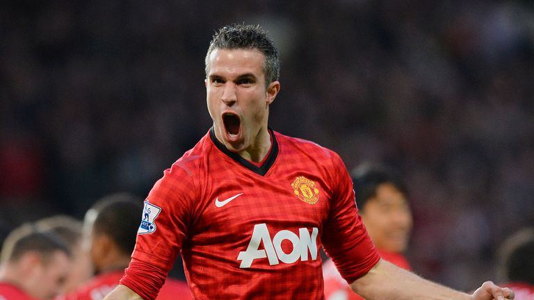 Robin van Persie: Scored a stunning hat-trick against Aston Villa to win the title