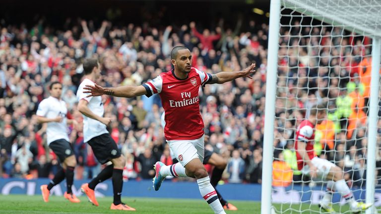 Theo Walcott: Hopes to play up front for Arsenal between now and the end of the season