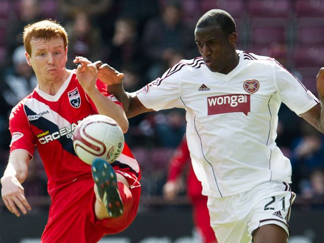 Scott Boyd (left) tussles with Michael Ngoo