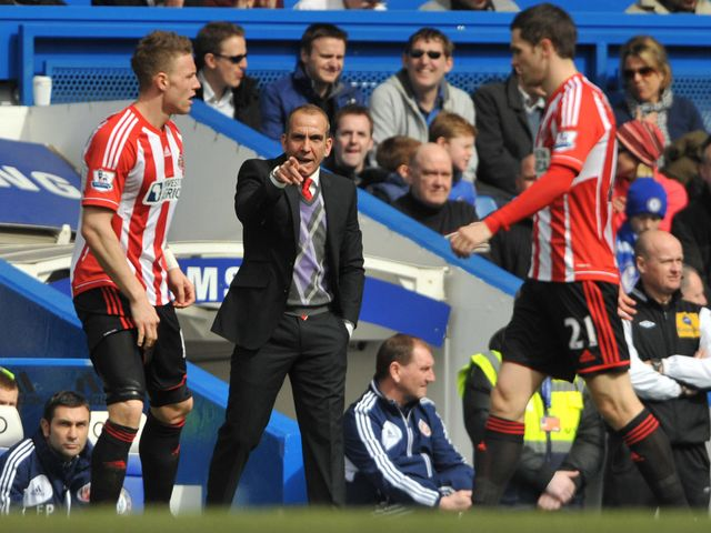 Paulo Di Canio takes charge of his first game as Sunderland boss