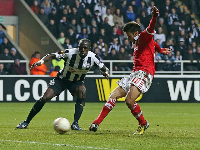 Eduardo Salvio scored Benfica's late equaliser