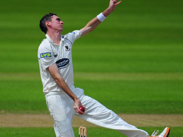Steve Magoffin: Took the last wicket for Sussex