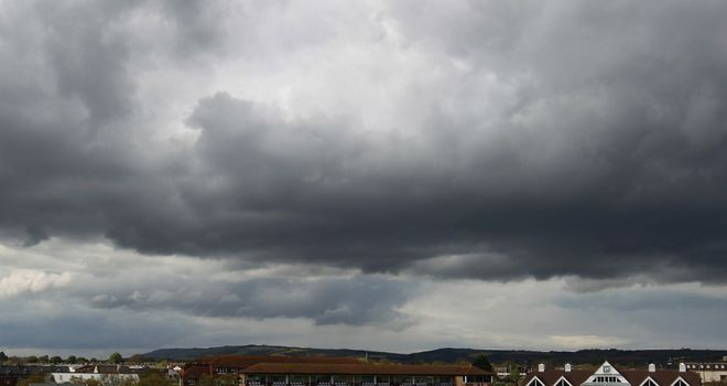 The rain clouds never seemed far away from Taunton's County Ground in 2012