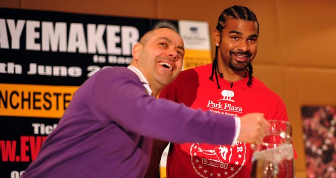 Adam Booth: Waiting to discover the severity of the hand injury suffered by David Haye