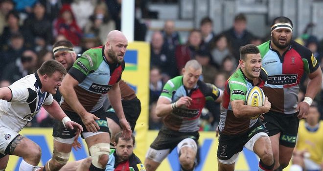 Danny Care on the charge for Quins