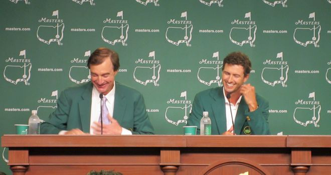 Adam Scott is all smiles in his press conference