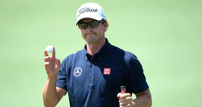Adam Scott: One shot off the lead going into the final round