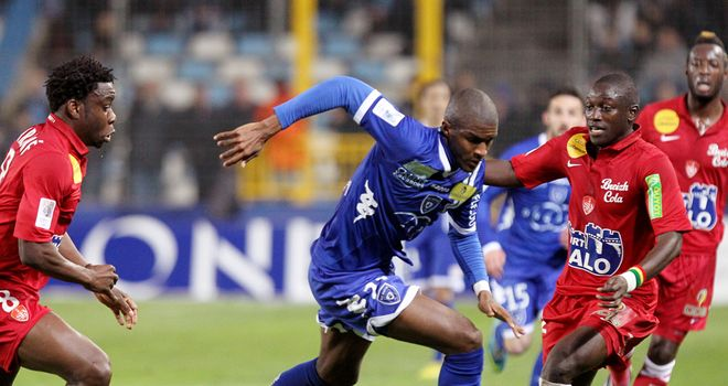 Bastia striker Anthony Modeste looks to break forward