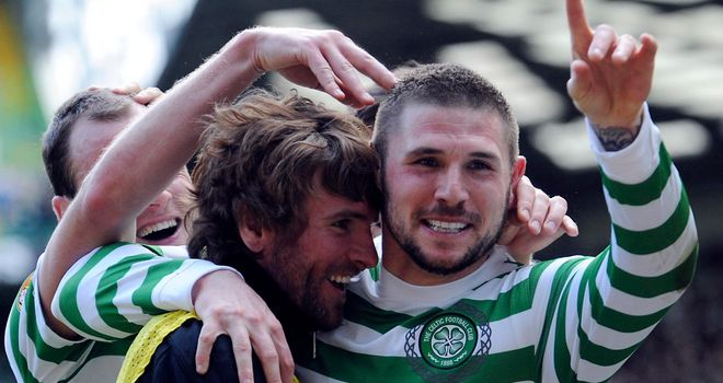 Gary Hooper: Linked with a move away from Celtic but Peter Lawwell says he could stay