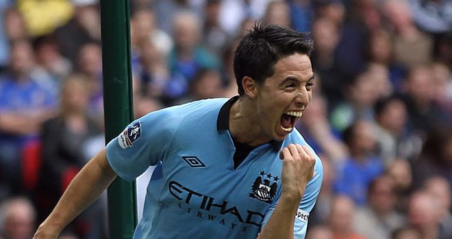 Samir Nasri: Fired Manchester City ahead